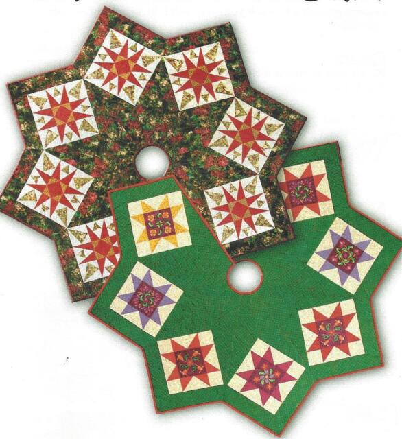 Feathered Snowflake Christmas Tree Skirt Quilt Pattern