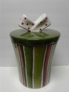 Cookie-Jar-All-Wrapped-up-with-a-Bow-Cookie-Jars-Glazed-Ceramic-Oneida