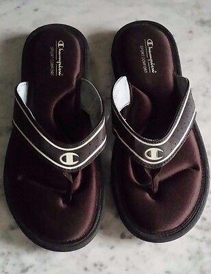 Champion Girl's Sport Comfort Black & White Sandal's US Size 6