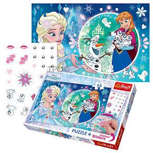 Trefl-54-Piece-Puzzlespiel-Marker-Gefrorene-Elsa-Zauberei-Schneemann-Maedchen