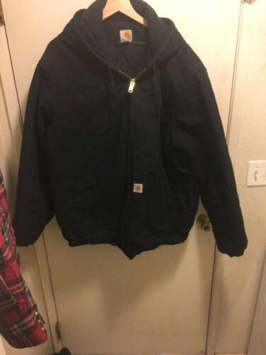 carhartt hooded insulated jacket, black