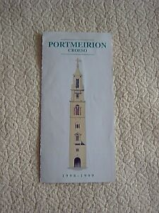 VINTAGE GUIDE TO PORTMEIRION - 1998-99 - IN ENGLISH & WELSH