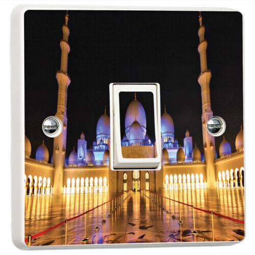 Cheikh Zayed Mosque 3D Interrupteur De Lumière Sticker Cover étui Vinyle Mur Decal Decor