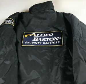 Allied-Barton-Security-Services-Jacket-Mens-L-XL-Lined-Wind-Warm-Long-Sleeve