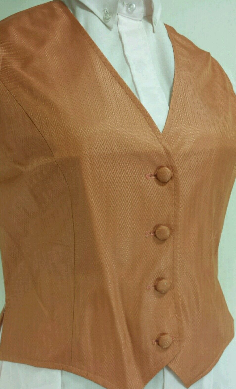 Reed Hill Saddleseat Vest Ladies Apricot   Peach Shimmer 12 - Made in USA