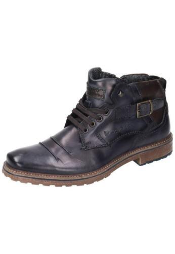Bugatti Stiefel Boots Leder Herrenschuhe blau 40-46 311-38231-1100-4100 Neu13