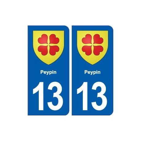 13 Peypin blason ville autocollant plaque sticker -  Angles : arrondis