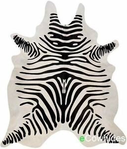 Details About Zebra Cowhide Rug Cow Hide Area Rugs Skin Leather