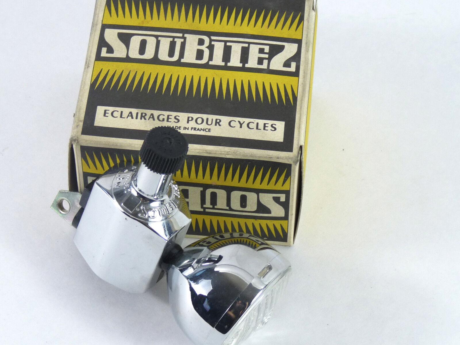 Soubitez Head Light W Generator Dynamo 120 102 Vintage Bike Herse Routens NOS