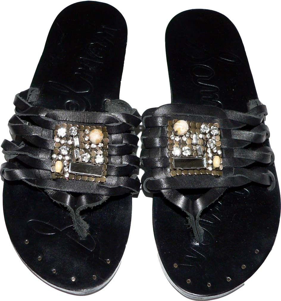 NEW SAM EDELMAN Bryce 6.5 M sandals thongs shoes jeweled slides leather black