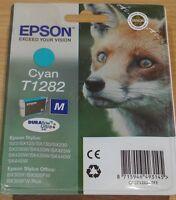 GENUINE EPSON T1282 Cyan (blue) ink cartridge vac' sealed from ORIGINAL FOX BOX