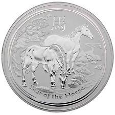 """1 Kilo Australien 2014 Lunar Serie  II """"Year of the Horse"""" (Pferd) 1 Kg 999 Silb"""