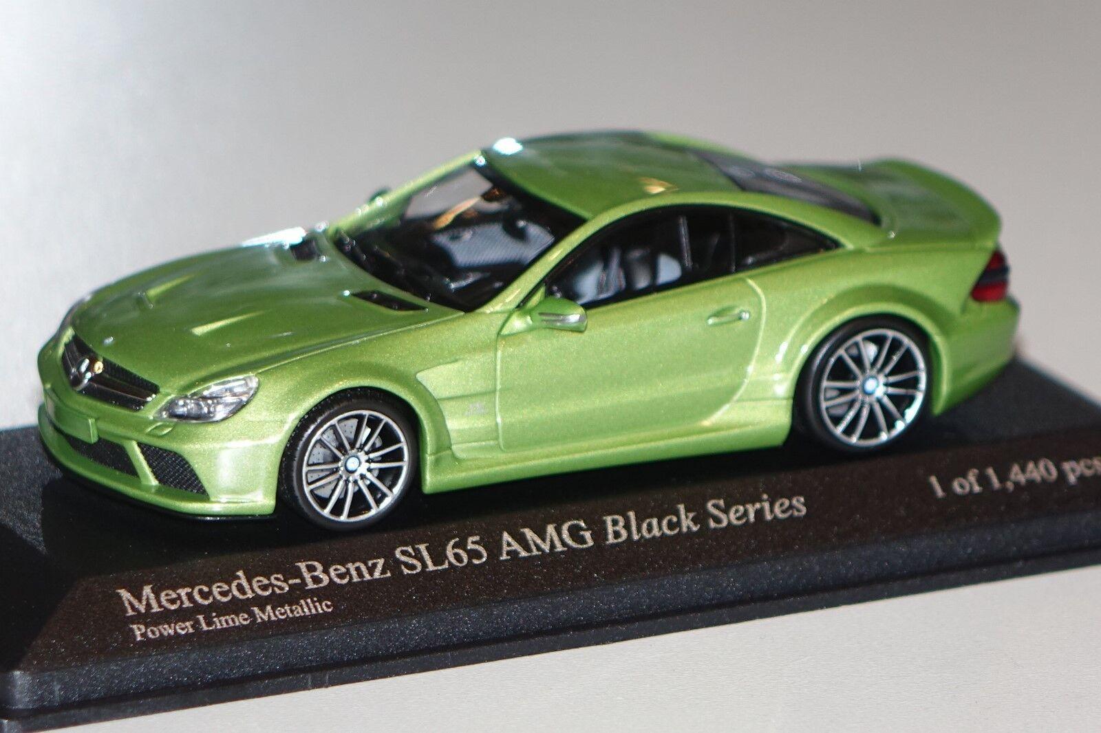 Mercedes SL 65 AMG (r230) vert metallic 1 43 MINICHAMPS 400038221 NOUVEAU & NEUF dans sa boîte