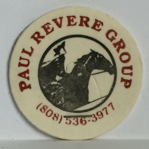 Milk Cap Paul Revere Group Vintage Pog Bin17