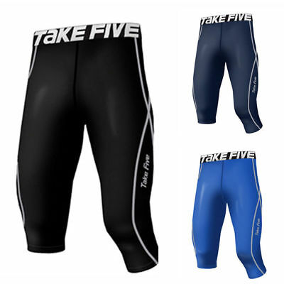 Take Five Mens Skin Tight Compression Base Layer Running Pants Leggings 215