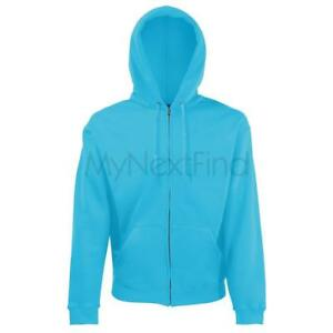 Fruit-of-the-Loom-Classic-80-20-Hoodie-Hooded-Sweatshirt-Jacket