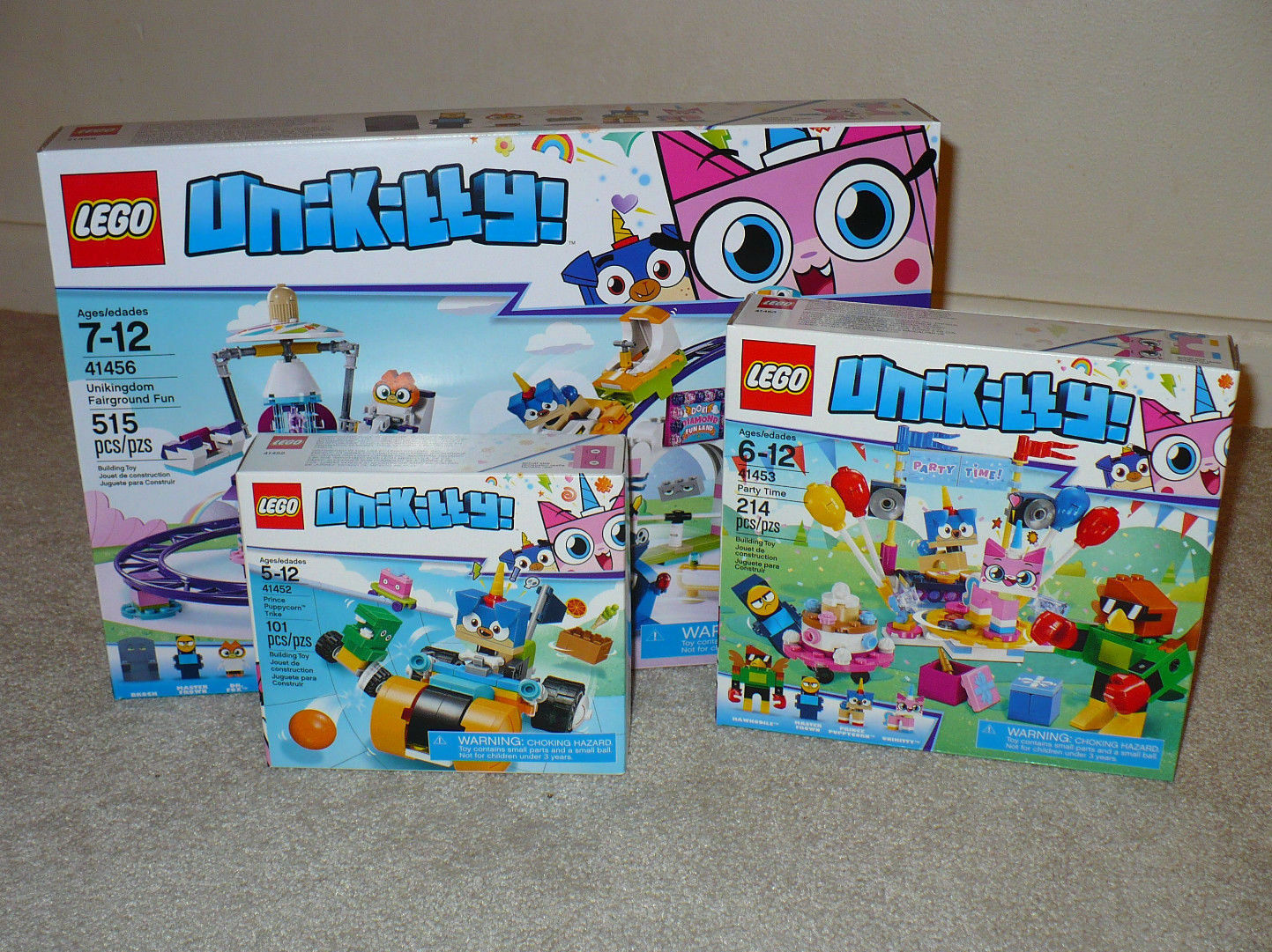Nouveau Lego Unikitty unikingdom forains Fun puppycorn Trike Party 41456 41452 53
