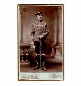 CDV-Foto-Soldat-Husar-Mainz-um-1890