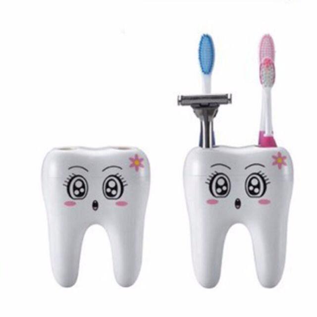 New Teeth Style 4 Holes Cartoon Toothbrush Stand Holder Bathroom Accessories