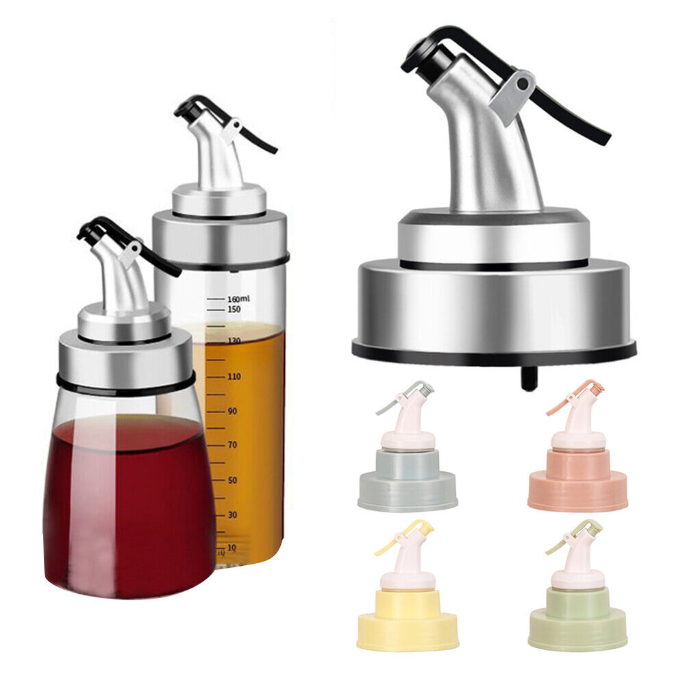 KQ_ ALS_ Flip Top Liquor Dispenser Nozzle Oil Wine Bottle Pourer with Cap Stoppe Bar Tools & Accessories