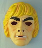 Vintage 1983 He Man Masters Of The Universe Vacuform Plastic Halloween Mask