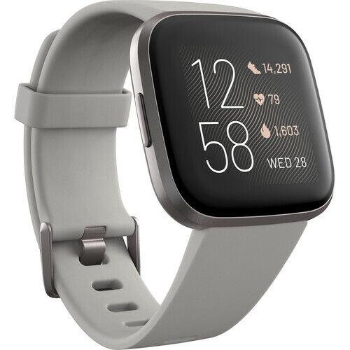 Brand New Fitbit Versa 2 Fitness Smartwatch - Stone Mist/Gray Aluminum aluminum brand Featured fitbit fitness new smartwatch stone versa