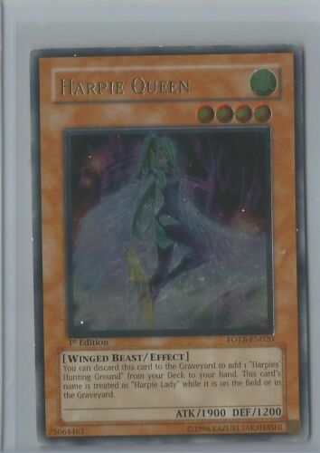 YUGIOH HARPIE QUEEN FOTB-EN020 ULTIMATE RARE 1st Edition NM