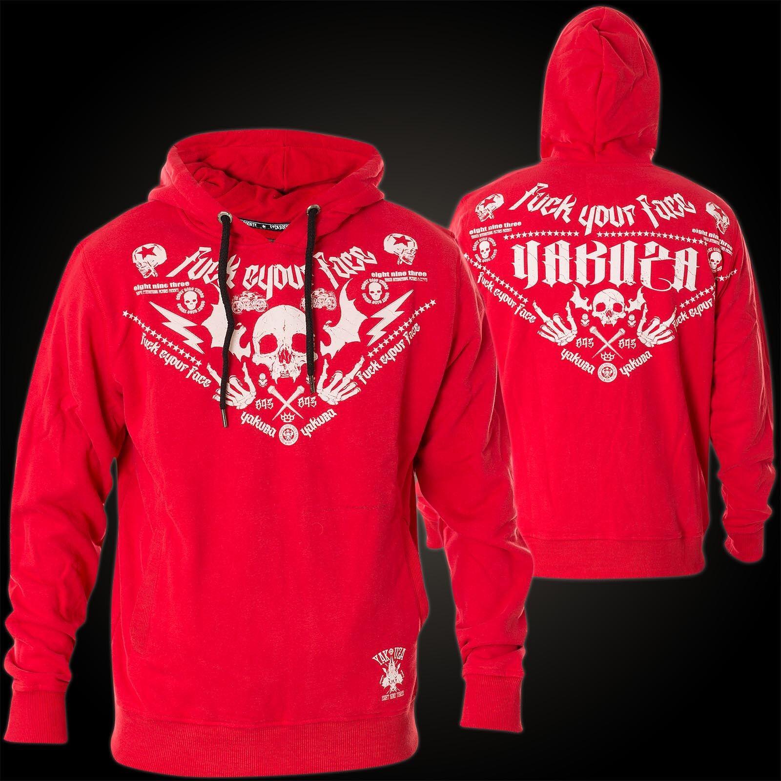 YAKUZA Hoody F.Y.F. HOB-10026 Ribbon rot Rot Hoodies Herren    Sweatshirts    Mode-Muster  425f57