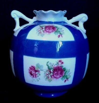 Charmant Petit Vase Boule En Porcelaine Décor Floral Austria Comfortabel Gevoel