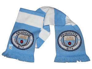 Manchester City Fan Schal Blau Weiß Mcfc Fanartikel Premier League 140x19cm