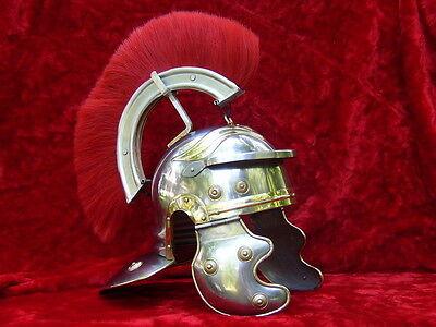 Roman Centurion Armor Helmet Centurian with Red Plume