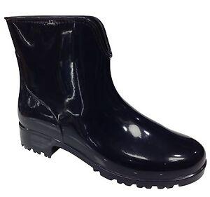 Senoras-corto-Storm-Tobillo-Wellington-Botas-mas-resistente-al-agua-Uk-3-4-5-6-7-8-9