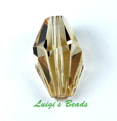 Light Colorado Topaz Swarovski #5203 Polygon Crystal Beads 18mm