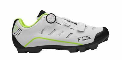 FLR F-55 Herren MTB Schuhe Fahrradschuhe Shimano SPD Klickschuhe wei/ß atmungsaktiv Mountain Bike