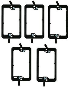 5x 1 Gang Low Voltage Wall Plate Bracket DryWall Mount Old Work Construction