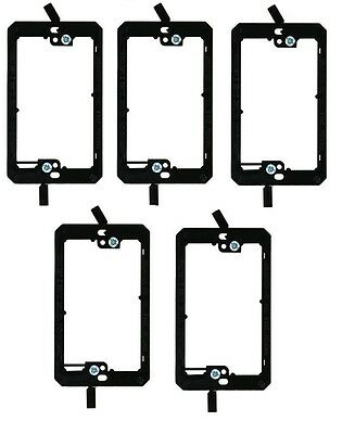 3x 2 Gang Low Voltage Wall Plate Bracket DryWall Mount Old Work Construction