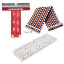 Raspberry Pi 2 B Kits T Type GPIO Extension Board+Breadboard+40Pin Rainbow Cable