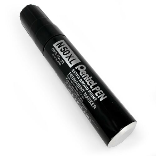 Chisel Tip Black Pentel N50XL Extra Large Broad Permanent Marker Single