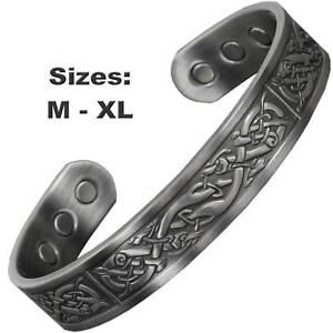 Image Is Loading Mens Copper Magnetic Bracelet Arthritis Pain Relief Healing