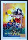 SUPERMAN BATMAN #10 ART PRINT by MICHAEL TURNER & PETER STEIGERWALD / HTF