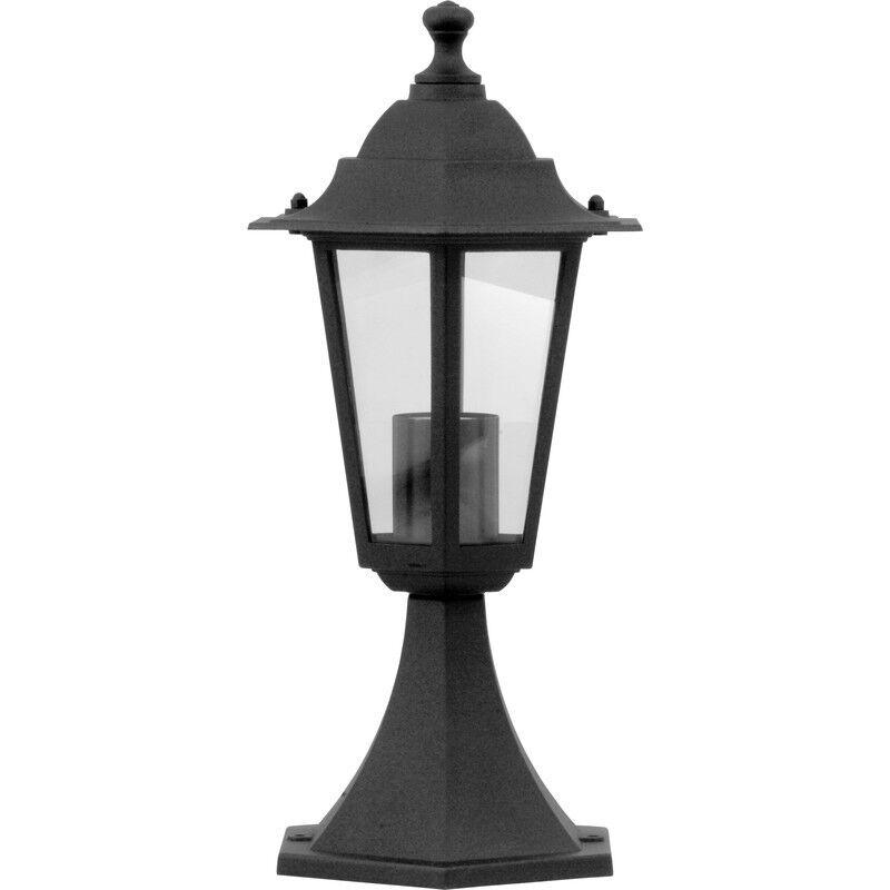 Nueva Linterna De Pedestal De Estilo Victoriano Negro 60W es cada uno, Jardín, Iluminación Luz x2
