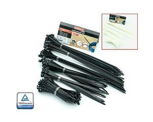 weiß Kabelbinder Set verschiede Größen 250-tlg Nylon