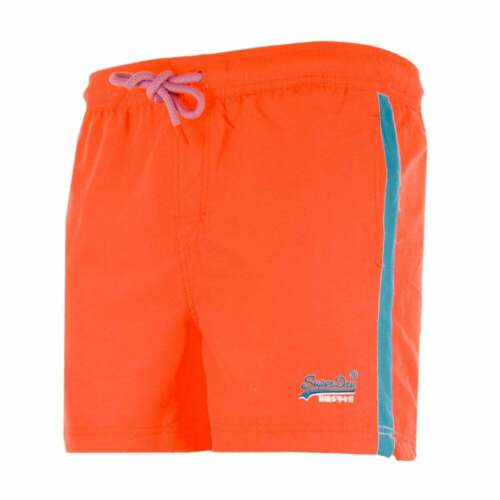 Pantalones cortos de Superdry para hombre Volley Swim de playa Naranja