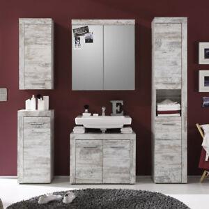 Badezimmer-Set-Cancun-5-tlg-in-Canyon-White-Pinie-Badmoebel-Badschrank-Spiegelsch