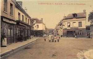 CPA-76-SOTTEVILLE-LES-ROUEN-PLACE-DE-LA-REPUBLIQUE-cpa-emaillee-cliche-pas-cou