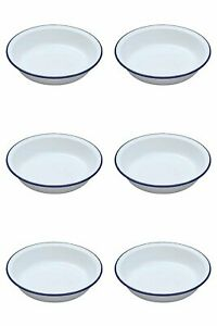 Ideal for camping or home 6 x Falcon Enamel Rice//Pasta Plate 18cm 0220