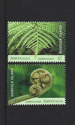 Clever Australien 2019 Norfolk Island Baum Farne 2er Set Briefmarken Nicht Gefaßt