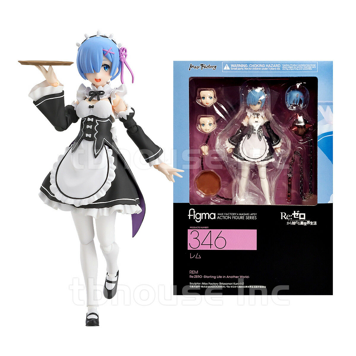 REM figure RE:ZERO FIGMA starting life in another world MAX FACTORY ram   346