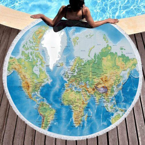 Delicate Round Beach Towel Can Travel 150 Centimeters Around The World DZ690