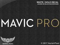 Dji Mavic Pro White & Gold Window / Case Decal Sticker Fpv Quadcopter Uav Drone